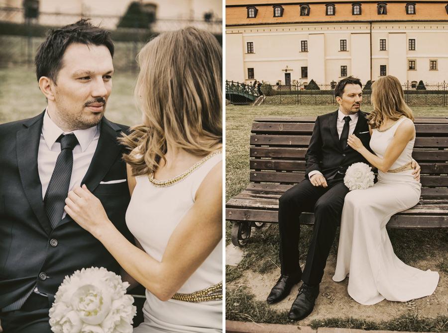 sesja ślubna w zamku w niepołomicach
