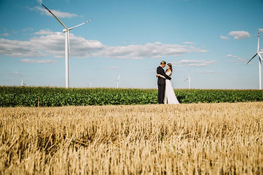 plener na farmie wiatraków