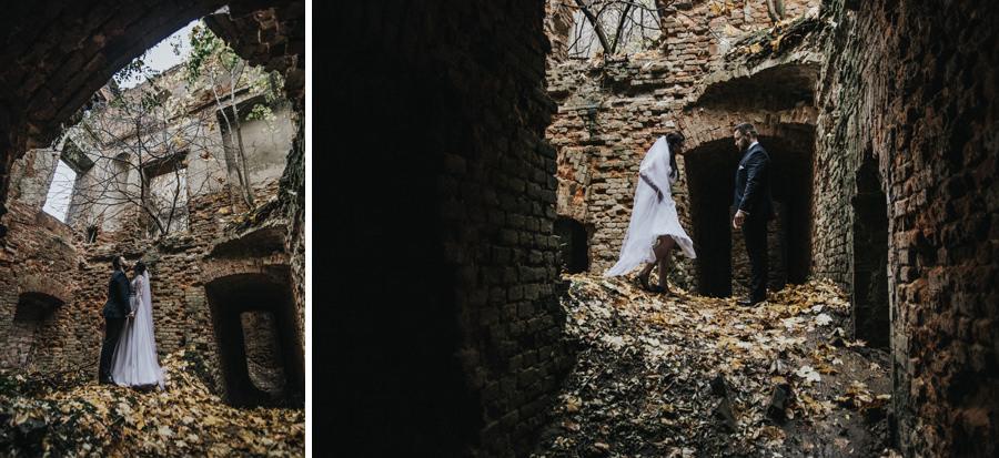 plener w ruinach pałacu