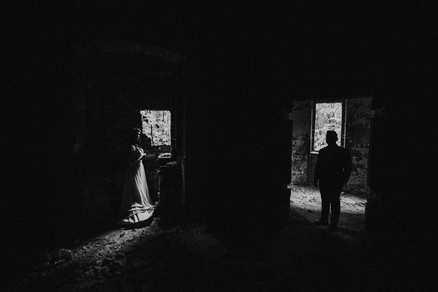 wianek na sesji ślubnej