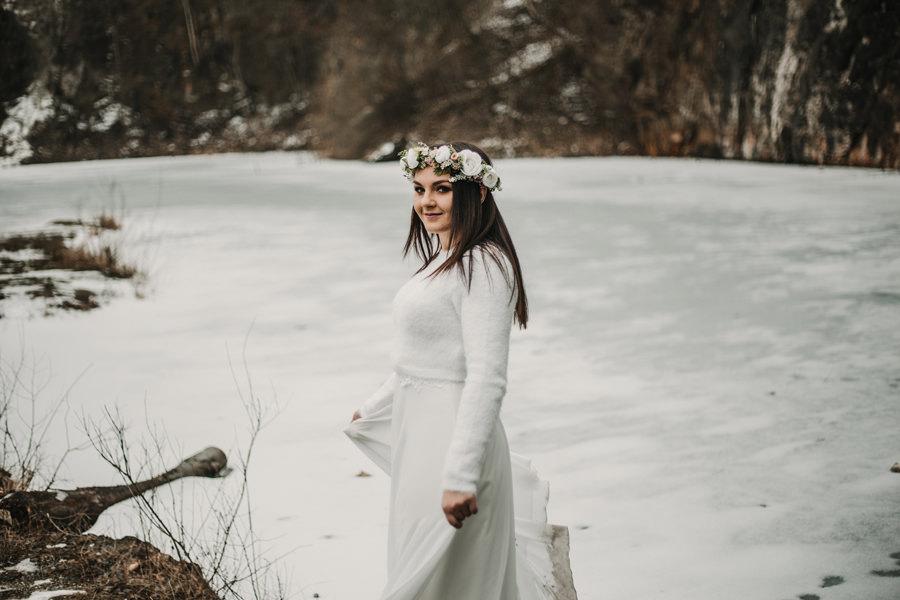 wianek zimą