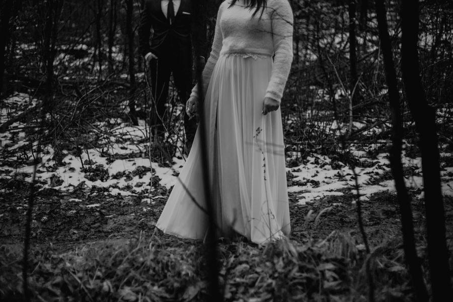sesja ślubna zimą