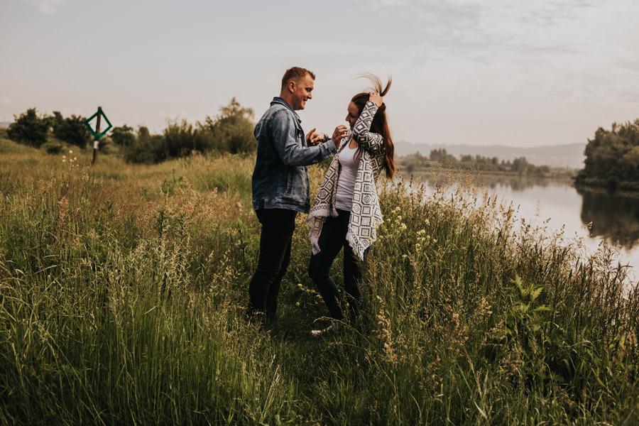 romantyczna sesja narzeczeńska w krakowie