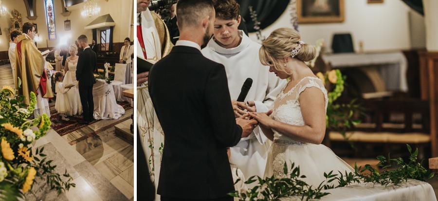 ślub w kościele św. Piotra i Pawła w Trzebini