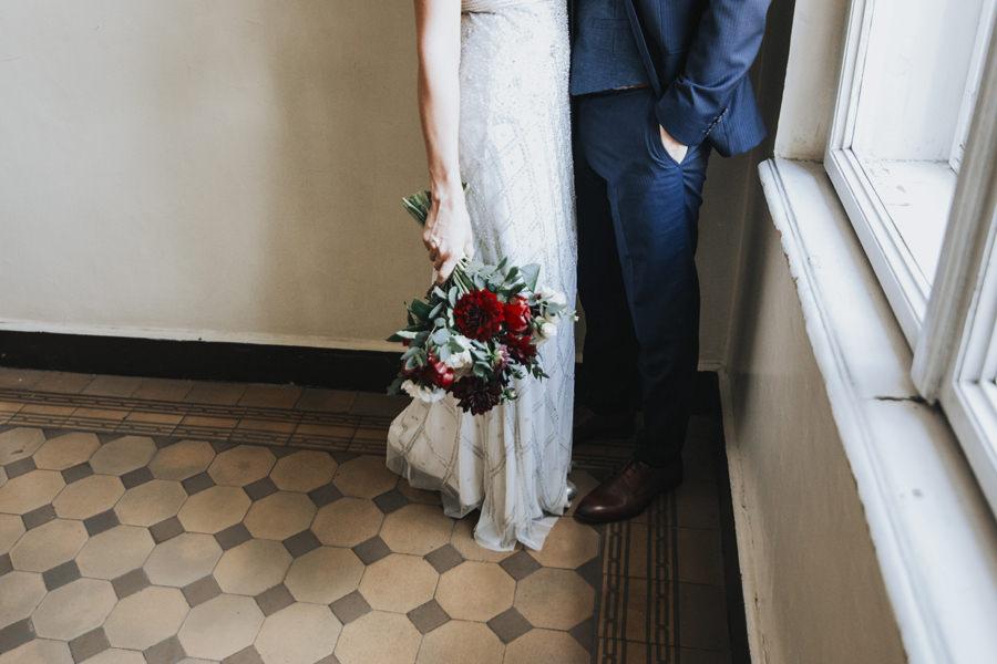 nietypowy bukiet ślubny w czerwcu