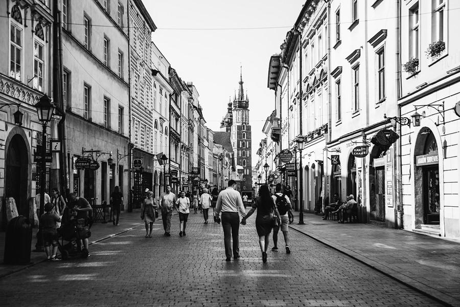 niezwykła sesja narzeczeńska w Krakowie