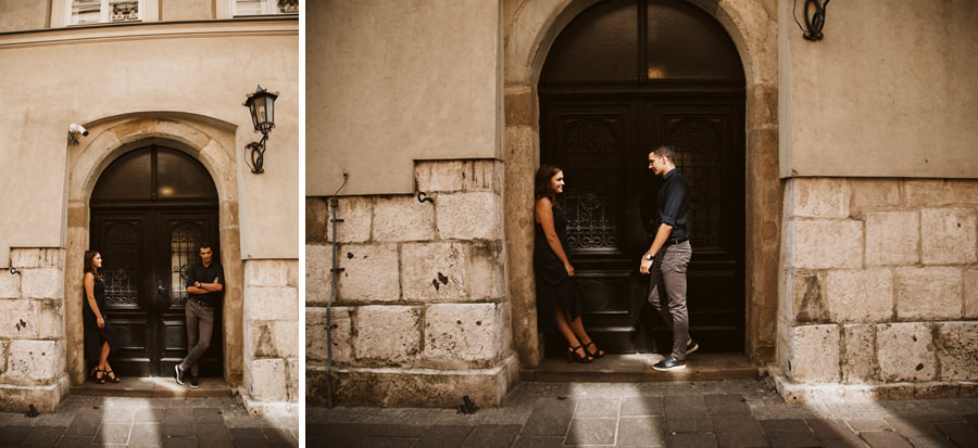 sesja przedślubna w centrum krakowa