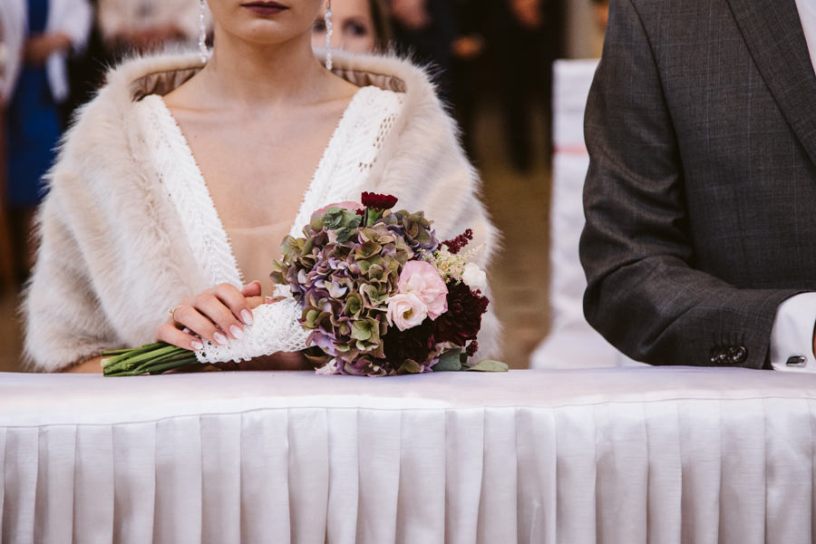 bukiet ślubny mszana