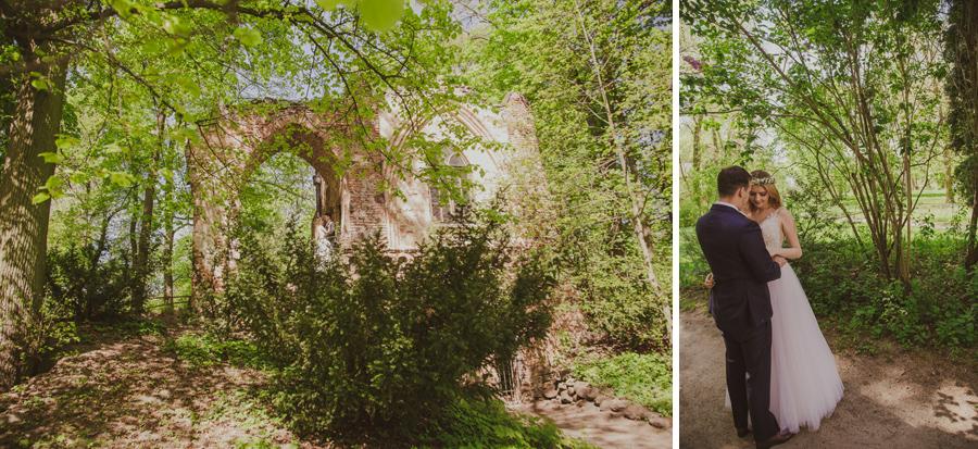 sesja ślubna w Parku Romantycznym w Arkadii