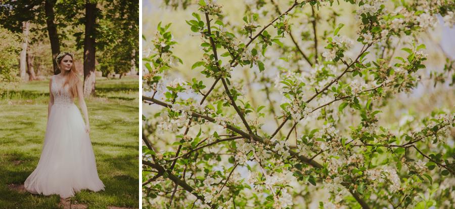 sesja w kwitnącym sadzie