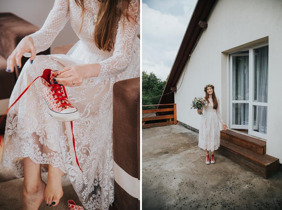 trampki do sukni ślubnej