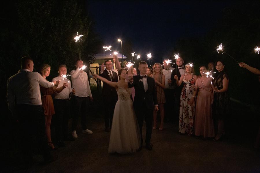 zimne ognie na weselu Sokołów Podlaski