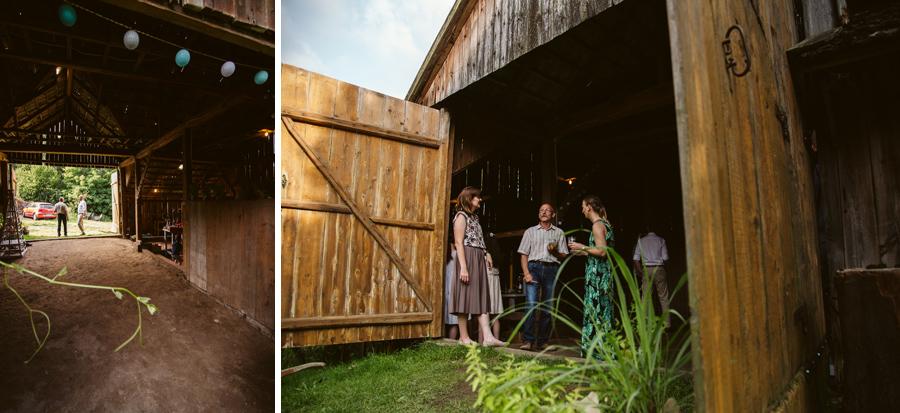 przyjęcie weselne na wsi